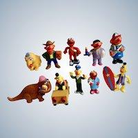 1980's Bert, Ernie, Elmos, Mr. Snuffleupagus, Snuffy Character Sesame Street Figurines Muppets Inc Applause TM CTW Tara Toy Corp