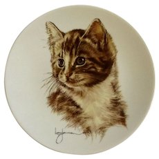 Kern Collectables Kitty Cats 'Tattoo' Tabby Cat 1984 Collectors Plate by Leo Jansen Limited Edition