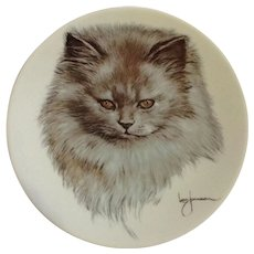 Kern Collectables Kitty Cats 'Morrie' Persian Cat 1983 Collectors Plate by Leo Jansen Limited Edition