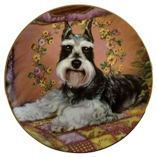 Miniature Schnauzer Dog Plate Bedside Buddy Danbury Mint Collectors Limited Edition