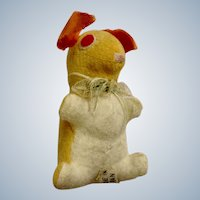 Vintage Velveteen Bunny Rabbit Stuffed Plush Animal Japan 1920's