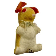 Vintage Velveteen Bunny Rabbit Stuffed Plush Animal Japan 1920's