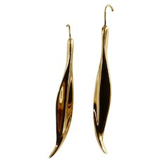 Monet Gold-Tone Leaves Fishhook Earrings for Pierced Ears