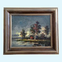 Burgy, Landscape Oil Painting on Canvas Signed By Artist
