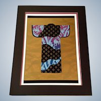 Colleen Rawland, Japanese Dress Kimono ll, Hand Signed Limited Edition Serigraph Screen Print On Rag Paper
