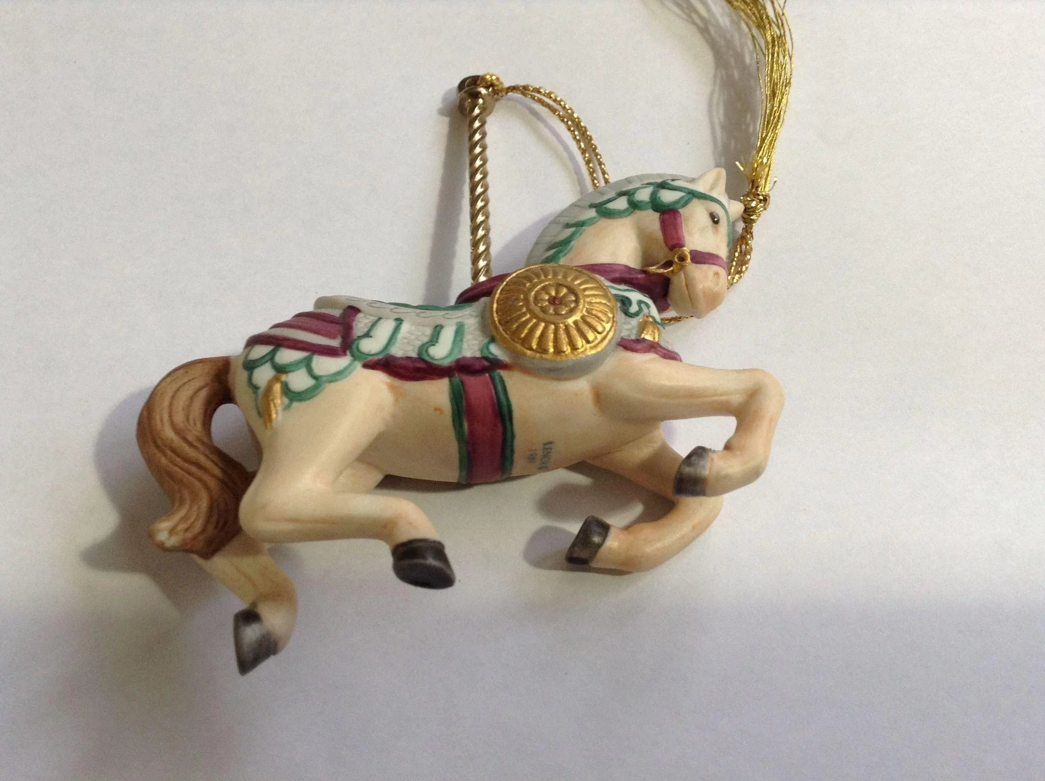Lenox 1989 Carousel Medieval Horse Christmas Tree Ornament