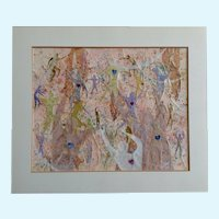 OWS Watercolor Society Marilyn, Silhouette Dancers Mixed Media Collage Contemporary Art