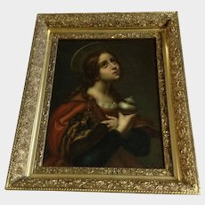 Old Master Oil Painting Portrait Die Heilige Maria Magdalena After Carlo Dolci
