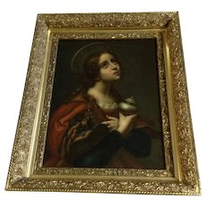 Old Master Oil Painting Portrait Die Heilige (Saint) Maria Magdalena After Carlo Dolci