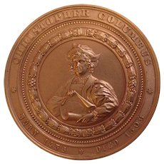 Souvenir Christopher Columbus 1893 World's Columbian Exposition Chicago U.S.A. So Called Dollar Copper Token