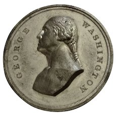 George Washington Dollar Token Centennial of British Evacuation of New York Silver-Tone Medal 1883