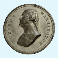 Washington Dollar Token Centennial of British Evacuation Silver-Tone Medal 1883