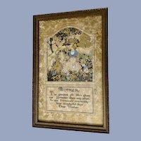 Vintage Mother Poem Framed Wall Art Print