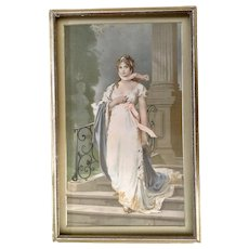 Queen Louise of Prussia by Gustav Richter Vintage Chromolithograph Print