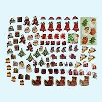 Mid-Century Christmas Ephemera Stickers Package Seals 100