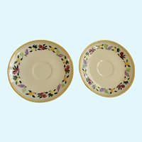 Franciscan Ware Small Fruit Replacement Saucers Made in USA