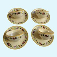 Franciscan Ware Small Fruit Flat Cup and Saucer Sets USA
