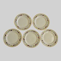 Franciscan Ware Small Fruit Salad Plates USA California Pottery