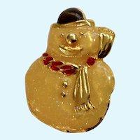 Christmas Snowman Brooch Pin Avon