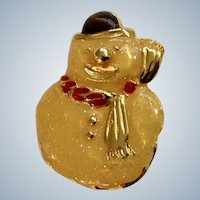 Christmas Snowman Brooch Pin Avon