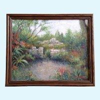 Bob Haynes Stone Garden Gate Impressionist Landscape Oil Painting