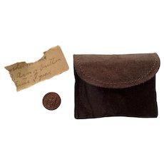Civil War Veteran Grand Army of the Republic Button Rare 1861 - 1866 Including Original Holding Case