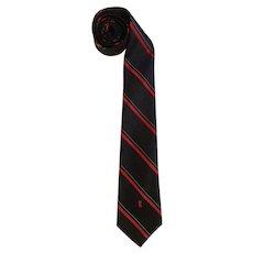 Vintage Yves Saint Laurent Necktie Black & Red with YSL Logo