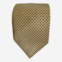 Vintage Nautica Tie Men's Designer Necktie Gold Color