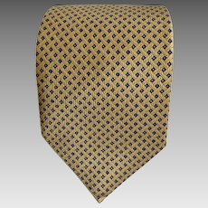 Vintage Nautica Tie Men's Designer Necktie Gold Color