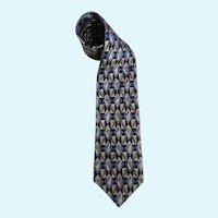 Monterey Bay Tie By J. Blades & Co. All Silk Necktie Circa 1970's