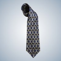 Monterey Bay Tie By J. Blades & Co. All Silk Necktie Circa 1970's