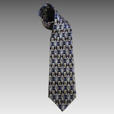 Circa 1970's Monterey Bay Tie By J. Blades & Co. All Silk Necktie