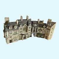 J. Carlton Dominique Gault Miniature Paris France City 5 Buildings Diorama Figurines