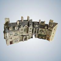 J. Carlton Dominique Gault Miniature Paris France City 5 Buildings La Postes, Porche, Pharmacie, La Mairie and Manson Tourelle Diorama Figurines
