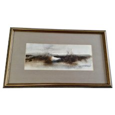 Janice Elaine (Bovay) Dorer (1933-2010) Original Mid-Century Abstract Acrylic Painting Signed by Southern Artist
