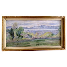 View Of Hong Kong Harbor Circa 1910 From Flower Garden Landscape Oil Painting On Canvas