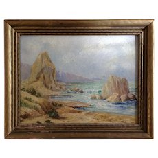 Original Oil Painting of Green River Landscape 1930's