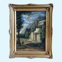 Arthur Melo, European Surreal Landscape Oil Painting
