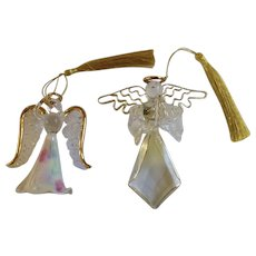 Vintage Hand Blown Glass Angle Ornaments