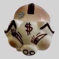 Walker California Pottery Piggy Bank Figurine Money Pig USA