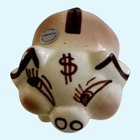 Walker California Pottery Piggy Bank Figurine Money Pig USA