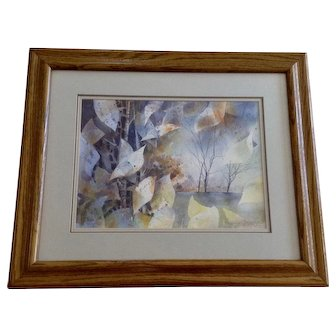 Terry Cherry, Original Landscape Watercolor painting Signed by Mississippi Artist