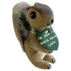Mid-Century White House Lawn Squirrel Collegiate Manufacturing Company Stuffed Animal Plush