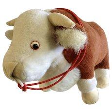 Mid-Century Merrythought Herefordshire Bull Cow Plush Ironbridge Shrops Shropshire England