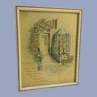Mid-Century Mother Poem Print Floral Door Mother's Day Donald Art Co