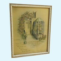 Mid-Century Mother Poem Print Floral Door Mother's Day Donald Art Co