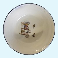 Lenox Special L86 Bowl Little Girl Playing With Dolls