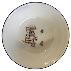 Lenox Special L86 Bowl Little Girl Playing With Dolls in Rocking Chair