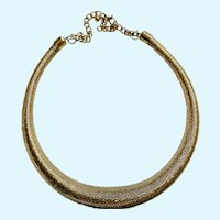Gold-Tone Choker Spring Necklace Costume Jewelry