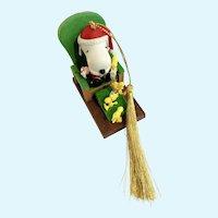 Snoopy Santa Claus and Woodstock Elves Christmas Tree Ornament Decoration Hallmark